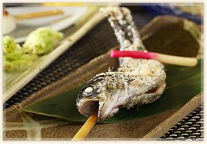 季節の川魚焼き